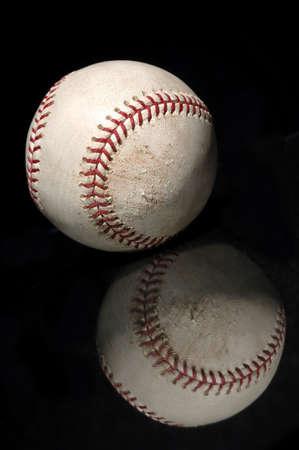 shortstop: baseball with reflection Stock Photo