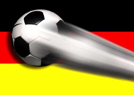 Soccer - football on black photo