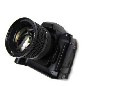 digitale camera met lens Stockfoto