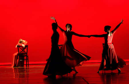 Dance in Red Banque d'images - 504242