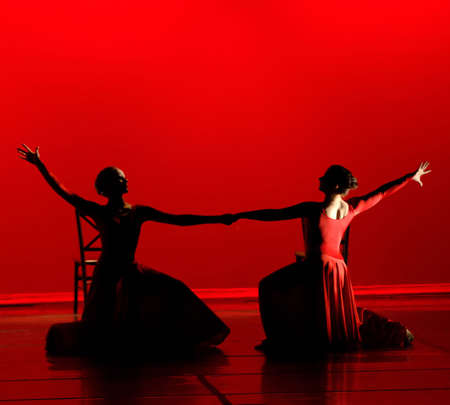 Dance in Red Banque d'images - 504238