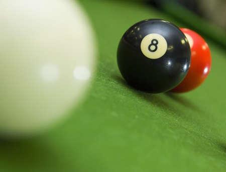 blocking: 8-ball blocking shot on ball in game of pool