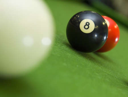 8-ball blocking shot on ball in game of pool
