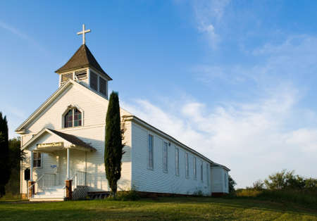 jesuschrist: Old American Country church, St. Barbaras Chruch - on the prairie near thurber texas