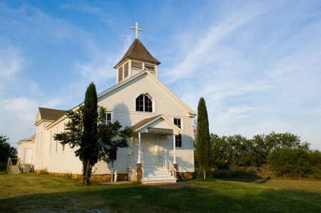 baptist: Old American Country church, St. Barbaras Chruch - on the prairie near thurber texas
