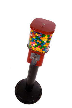vend: old, vintage, antique gumball machine Stock Photo