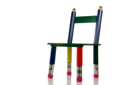Merveilleux Pencil Chair On White Background With Clipping Path Stock Photo   788933