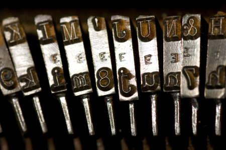 Old, rusty antique vintage typewriter photo
