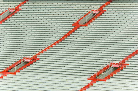 stadia: Empty sports stadium seating great for background