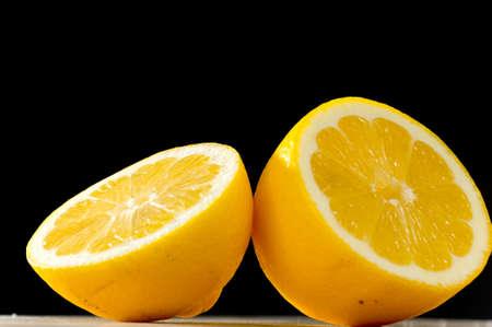 black backgound: Lemon on black backgound
