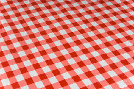 Gingham checked tablecloth background
