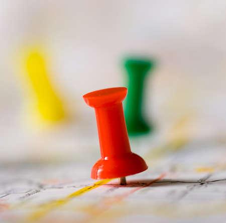 particolare: Puntina sulla mappa pinpointng una determinata zona, la mappa non � distinguibile