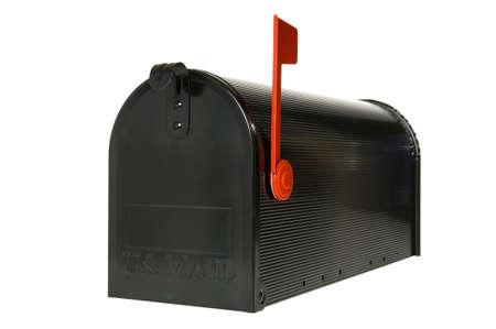 Gesloten brievenbus met vlag omhoog