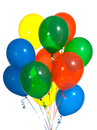 flotation: Primary color party balloons for a background