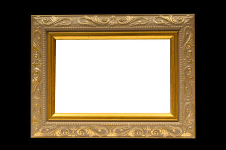 Ornate picture frame with clipping paths Banco de Imagens