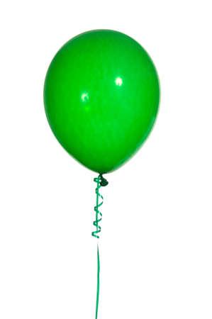 globos fiesta: Multicolred partido globos con cuerdas sobre un fondo blanco  Foto de archivo