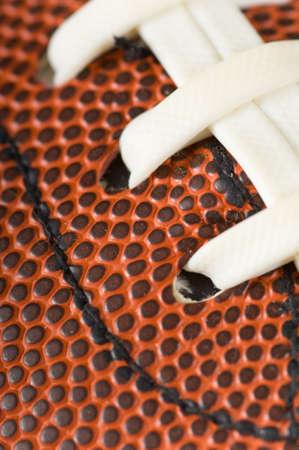 Close-up van een Amerikaans voetbal met kopie ruimte Stockfoto