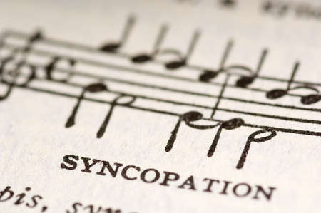 the musical term syncopation with an illustration