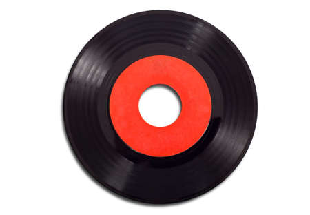 antique phonograph: Vintage vinyl record albums with copy space on a white background add text or graphic to record label