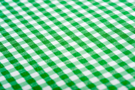 gingham: Green Gingham or checked tablecloth background