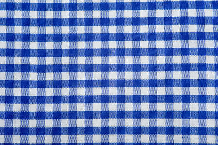 Blue Gingham Or Checked Tablecloth Background Stock Photo   3875078