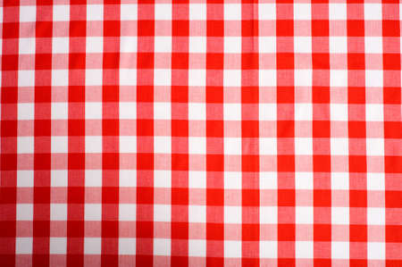 red gingham: Red and white Gingham or checked tablecloth background