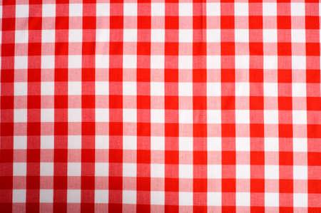 Rode en witte Gingham of tafel laken voor de geselecteerde achtergrond
