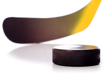 designate: A colorful hockey stick and puck on a white background.  The words on the puck say official and Chezk.  They are not trademarks they designate the pucks status and its country of origin.