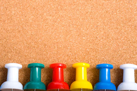 a bulletin board or cork board background with push pins and copy space or add notes etc Stock Photo - 4722882