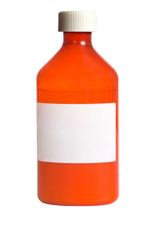 A prescription medicine bottle with a blank label on a white background with copy space Stock Photo - 4722336