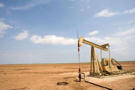 Een olie pomp of Jaknikker op de vlakten van West-Texas, Verenigde Staten van Amerika Stockfoto