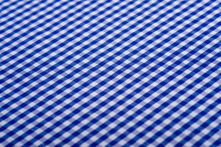 Blue Gingham or checked tablecloth background