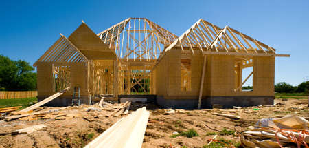 real esate: New home Construction Stock Photo