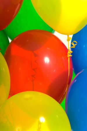 brightly: Brightly colored party balloons