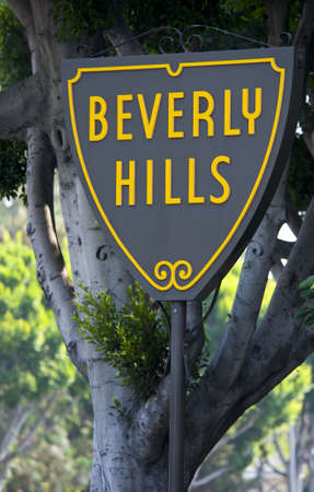 iconic: Iconic sign in Beverly Hills Calilfornia, this sign is not copyrighted