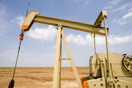An oil pump or pumpjack in the United States of America. Oil Industry equipment photo