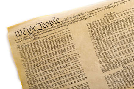 A copy of the United States Constitution on a white background Stock Photo - 4754970