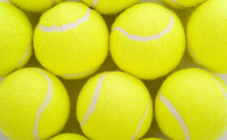 Several tennis balls on a white background with copy space Stock Photo - 4754736