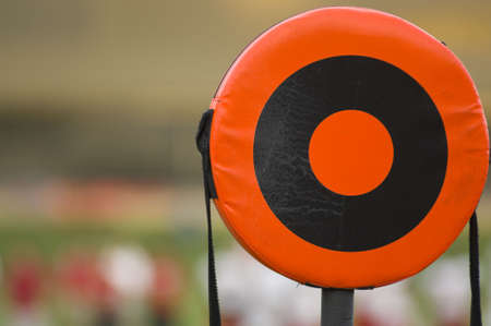 A American football line marker with copy space