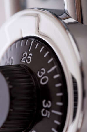 combination: A close-up of a combination lock Stock Photo
