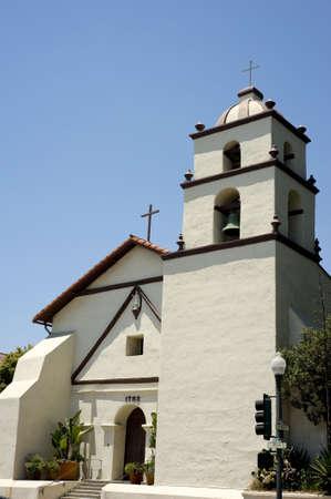 catholocism: A the San Buena Ventura Mission at Ventura California