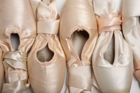 ballet shoes: A group of ballet shoes or slippers