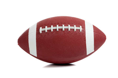american football background: An American football on white background