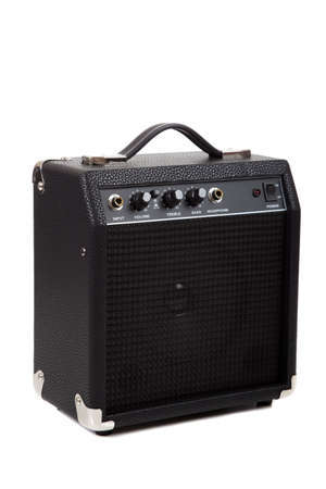 A small guitar amplifier on white background photo