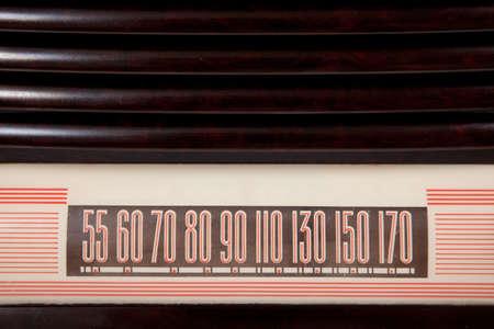 A vintage antique radio dial background with copy space Reklamní fotografie