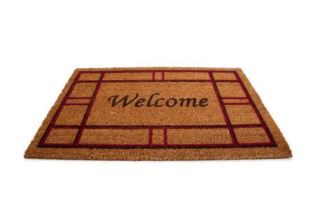 """no entrance: Una colchoneta o una alfombra con la palabra """"Welcome"""" impreso en ella. Hospitalidad"""