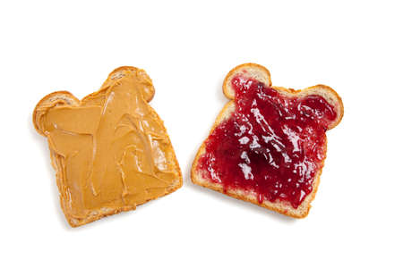 jelly sandwich: Peanut butter and Jelly Sandwich open face