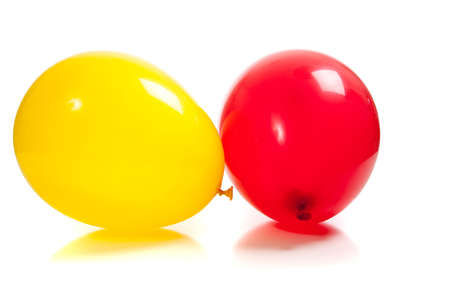 Multi-colored balloons on a white background Stock fotó