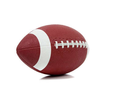 american football background: An american football on a white background
