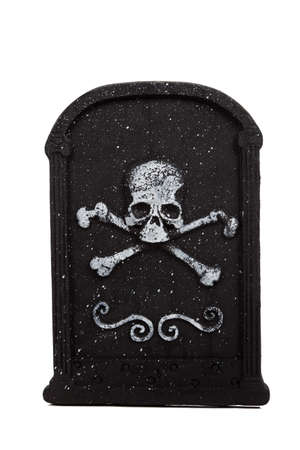 An halloween grave stone on a white background photo